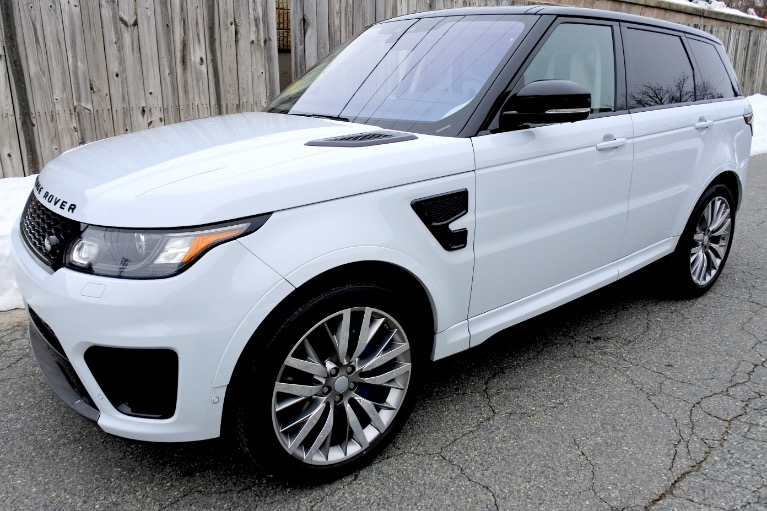 Used 2017 Land Rover Range Rover Sport V8 Supercharged SVR Used 2017 Land Rover Range Rover Sport V8 Supercharged SVR for sale  at Metro West Motorcars LLC in Shrewsbury MA 1