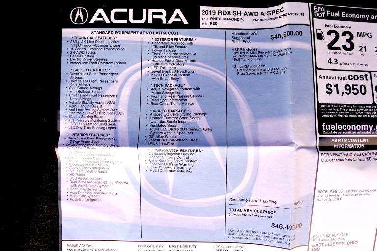 Used 2019 Acura Rdx AWD w/A-Spec Pkg Used 2019 Acura Rdx AWD w/A-Spec Pkg for sale  at Metro West Motorcars LLC in Shrewsbury MA 26