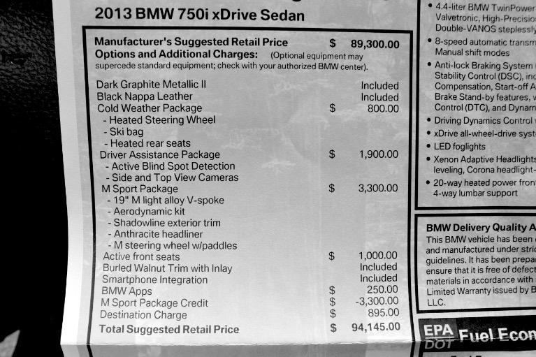 Used 2013 BMW 7 Series 750i xDrive AWD Used 2013 BMW 7 Series 750i xDrive AWD for sale  at Metro West Motorcars LLC in Shrewsbury MA 26