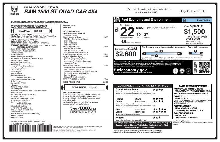 Used 2014 Ram 1500 4WD Quad Cab 140.5' Tradesman Used 2014 Ram 1500 4WD Quad Cab 140.5' Tradesman for sale  at Metro West Motorcars LLC in Shrewsbury MA 16