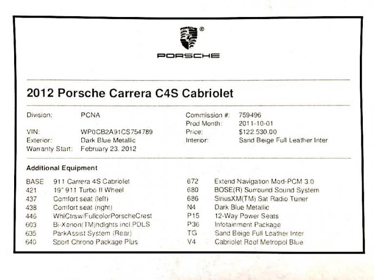 Used 2012 Porsche 911 2dr Cabriolet Carrera 4S Used 2012 Porsche 911 2dr Cabriolet Carrera 4S for sale  at Metro West Motorcars LLC in Shrewsbury MA 19